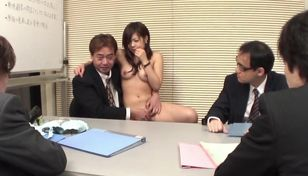 Japanese nice honey interviews for a..