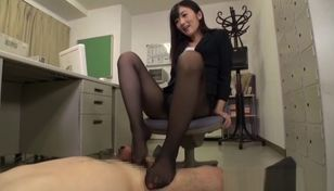 Rina Fukada titillating Chinese office..