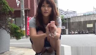 Damsel Chinese red-haired filmed while..