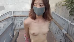 Japanese female walk naked senior..