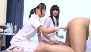 Asian nurse female dominance spandex..