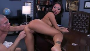 Mellow big-boobed Asian Asa Akira..